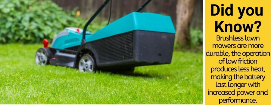 advantages of brushless lawn mowers
