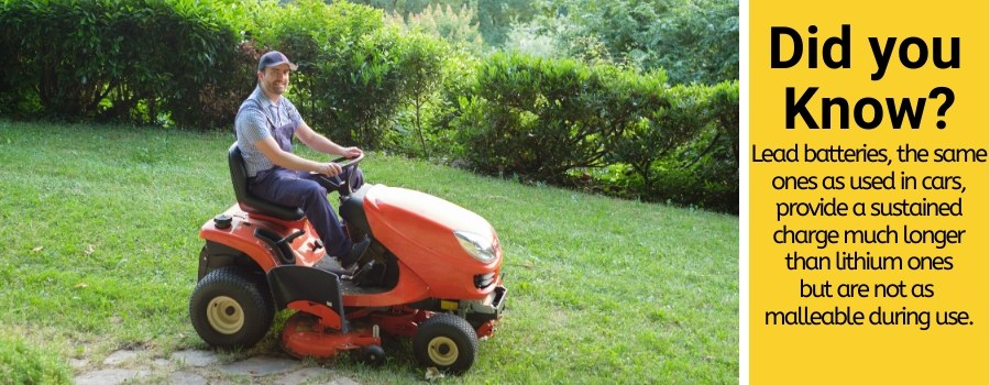 battery lifespan in riding lawn mowers