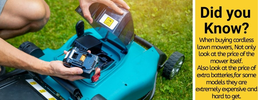 how long does cordless lawn mower batteries last