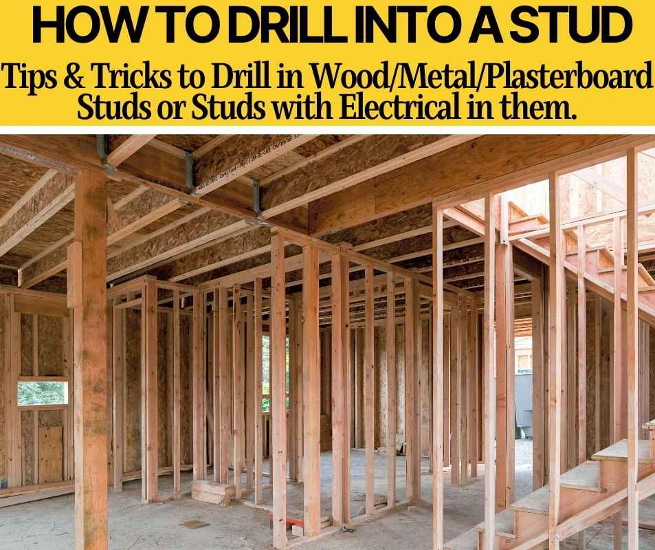 how to drill into stud