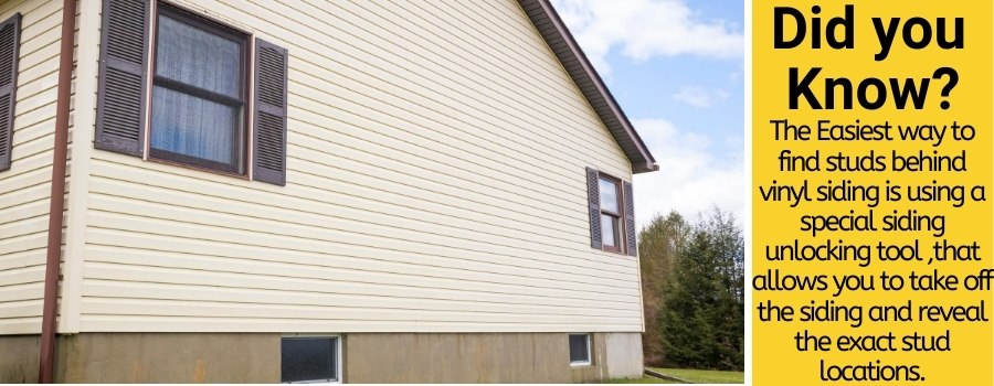 how to find studs behind vinyl siding