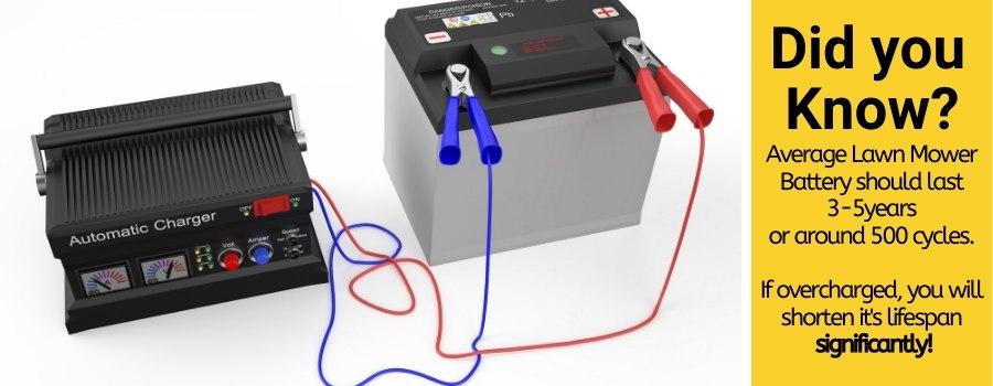 overcharging lawn mower battery