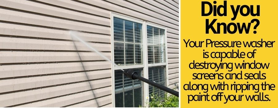 Pressure washing your house too often damage