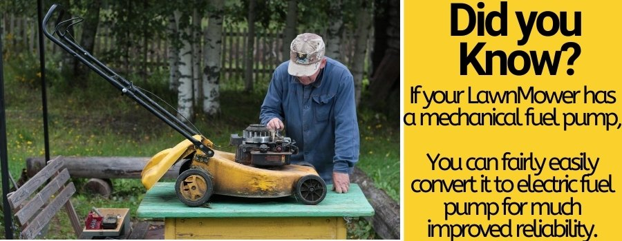 fixing and swapping lawnmower fuel pumps