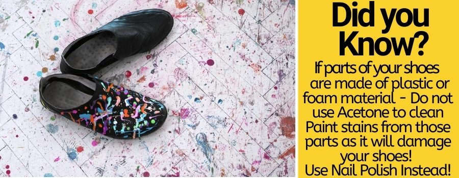 remove spray paint from shoes