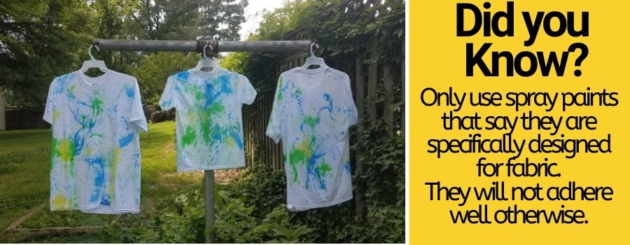 spray painting clothes